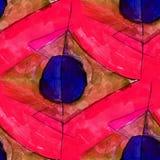 Seamless light purple, red, blue watercolor artist wallpaper mod Stock Photography