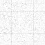 Seamless Light topographic  map Royalty Free Stock Image