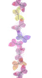 Seamless light transparent ribbon frame with delicate butterflies Royalty Free Stock Image