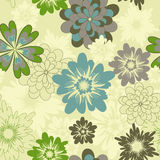 Flower pattern. Seamless light yellow flower background Stock Images