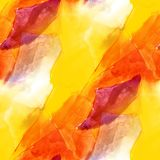 Seamless light yellow orange watercolor artist wallpaper modern Stock Photography