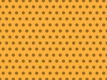 Seamless Light Yellow Pastel Dot Background Pattern stock illustration