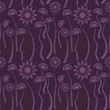 Seamless lilac floral  pattern,  vector. Endless texture can be used for wallpaper, pattern fills, web page  background,  surface Stock Photos