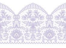 Seamless lilac lace Stock Image