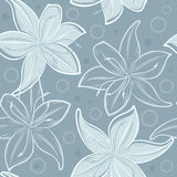 Seamless lily flower pattern Stock Photo