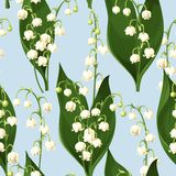 Seamless lily of the valley Royalty Free Stock Photography