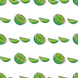Seamless lime pattern Royalty Free Stock Photos