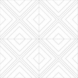 Seamless Line Art Vector Pattern Tile. Diagonal Boxes Line Art Concept Design Royalty Free Stock Photography