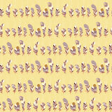 Seamless line of feathers. Vector background Stock Images