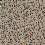 Seamless line floral pattern. Seamless line vintage floral pattern Stock Images