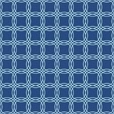 Seamless line pattern, abstract geo background, entangled circles. Seamless line pattern, abstract geometric background in navy blue and turquoise colors. Vector Stock Photography