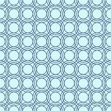 Seamless line pattern, abstract geometric background in navy blue and turquoise colors. Vector illustration. A lot of circles on light turquoise blue Royalty Free Stock Photo