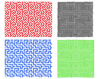 Seamless line pattern in Chinese style, vector. Design Stock Photos