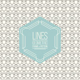 Seamless line pattern and linear geometric frame Stock Photography
