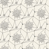 Seamless line pattern tile background geometric Royalty Free Stock Photo
