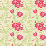 Seamless line Rose Pattern Stock Photo