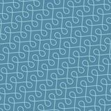 Seamless Linear Flourish Pattern for Retro Design. Stock Photo