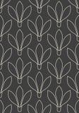 Seamless linear flower pattern Stock Image