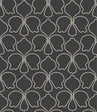 Seamless linear flower pattern Stock Photo
