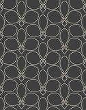 Seamless linear flower pattern Royalty Free Stock Photos