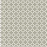 Seamless linear pattern with thin elegant curved lines forming classic ornamental wallpaper, quatrefoil. royalty free illustration