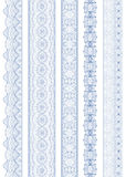 Seamless linear wavy border. Royalty Free Stock Image