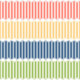 Seamless lined banners. Collection of four different colored seamless lined banners stock illustration