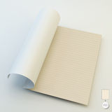 Seamless lined paper. 3d vector illustration Stock Photography