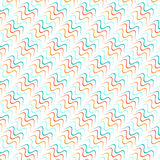 Seamless lines with curve vector pattern Royalty Free Stock Images