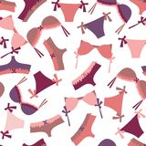 Seamless Lingerie Pattern Royalty Free Stock Photography