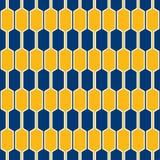 Seamless linked hexagon honeycomb texture. Geometric abstract pattern vector illustration
