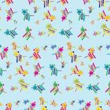 Seamless Lion Background Pattern Royalty Free Stock Image