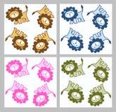 Seamless lion pattern Stock Photography