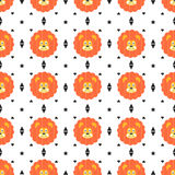 Seamless lions pattern Stock Photo