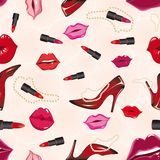 Seamless lips background Stock Photo