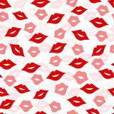 Seamless lips background,  illustration Royalty Free Stock Photo