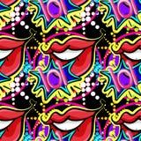 Seamless lips Royalty Free Stock Photo