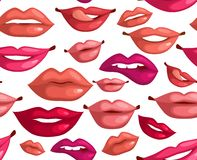 Seamless lips Stock Photography