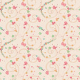 Seamless Little Colorful Flowers. Seamless pattern of Little Colorful Flowers Stock Photos