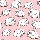 Seamless little elephant pattern Stock Images