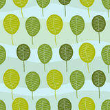 Seamless Little Trees Pattern Stock Photo