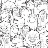 Seamless lizard cartoon Stock Image