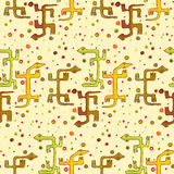 Seamless Lizards. Dogon style lizards on a seamless wallpaper pattern Stock Images