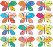 Seamless ljus färgrik fjärilsbakgrund Royaltyfri Foto