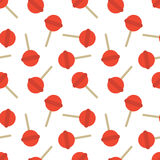 Seamless Lollipop Candy Pattern Stock Images