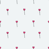 Seamless lollipop with heart shape pattern Stock Photo