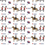 Seamless London pattern. With white background Royalty Free Stock Photography