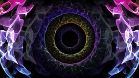 Seamless loop abstract animation hole of illusionary colorful light represent subconscious mind, peaceful trance, warp zone, time stock footage