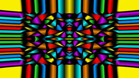 Seamless loop abstract video background with multicolored fragments, kaleidoscope ornament stock footage