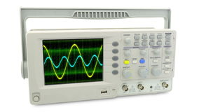 Seamless loop animation. moving sine wave on an oscilloscope cycle